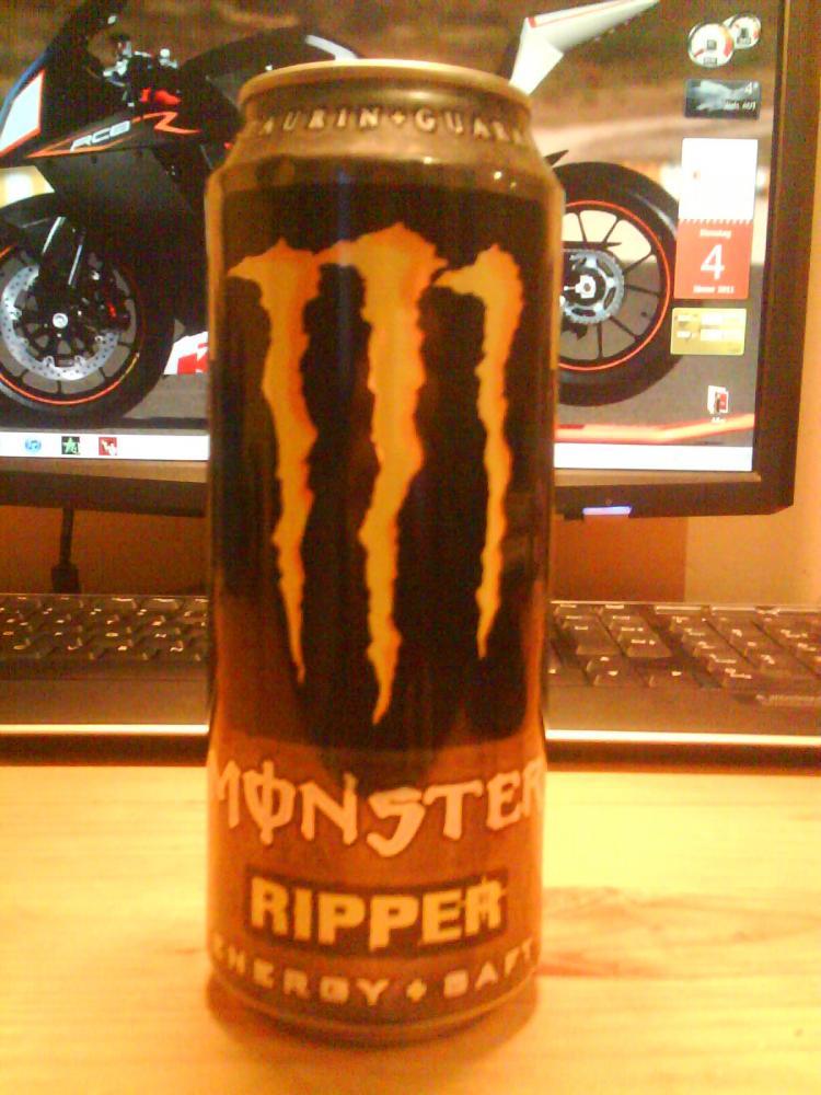Monster Energy Gelb