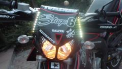 Black nd Red Derbi Senda LED's