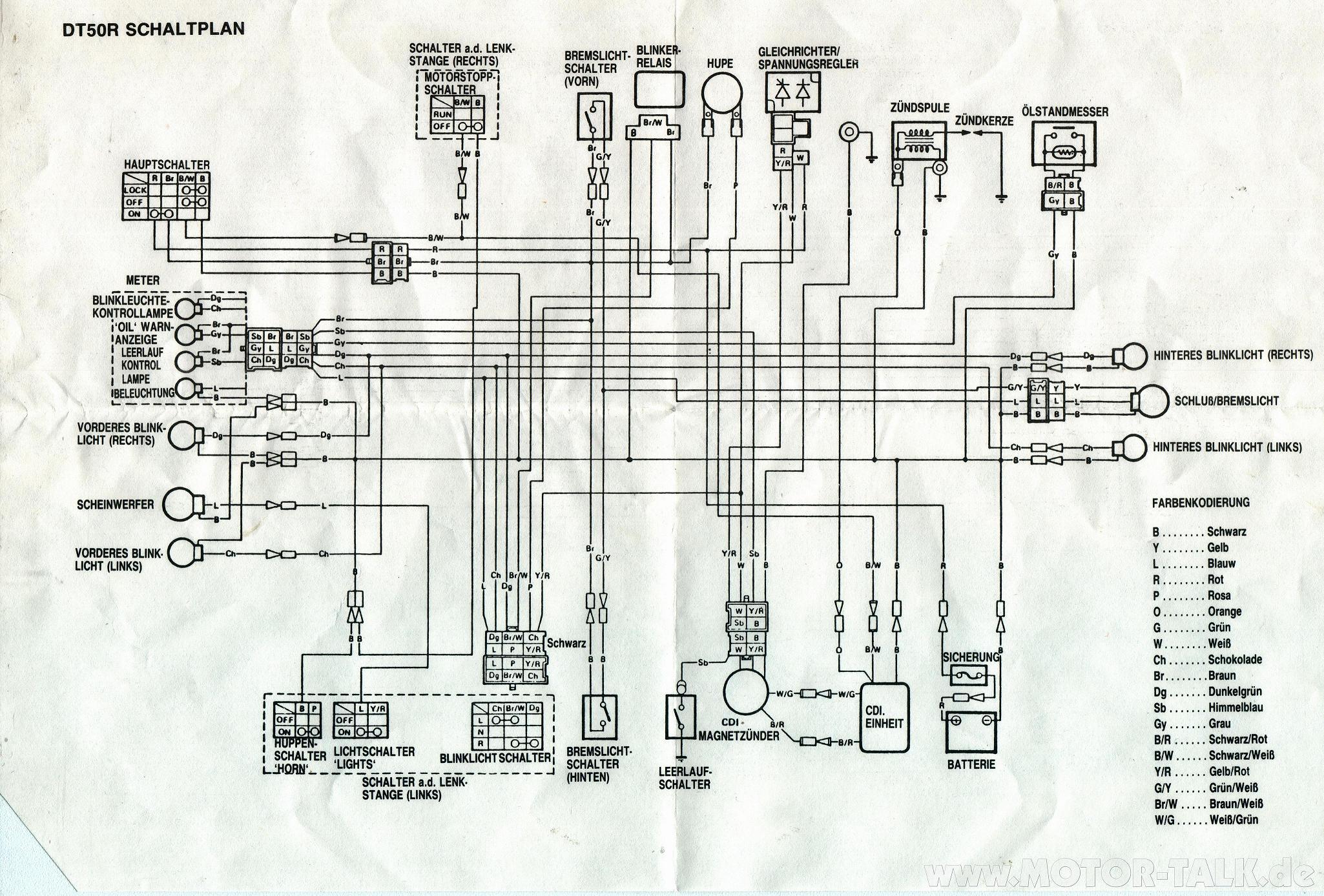 Schaltplan DT50 (2008) - Elektronikbereich - 2Stroke-Tuning