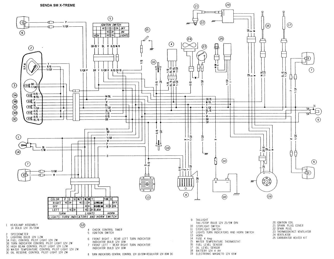 X Treme Scooters Wiring Diagram Page 5 And Schematics Fisher Extreme V Schematic Derbi Senda Xtreme Somurich Com Rh