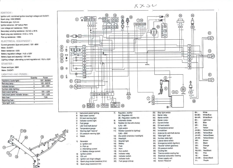 Schaltplan Yamaha Dt 50 M