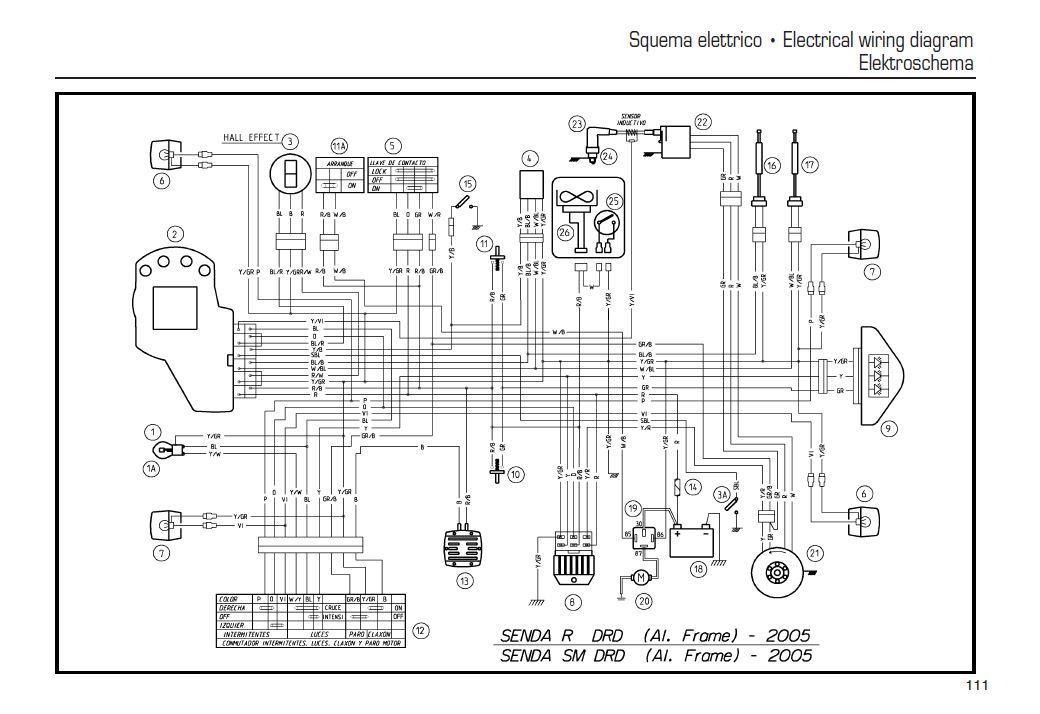 Schaltplan Derbi Senda Xtreme  Derbi Senda Drd Pro Sm 07